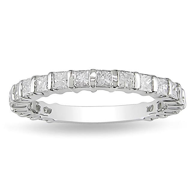 Miadora 14k White Gold 1ct TDW Diamond Anniversary Ring (H-I, I2-I3)