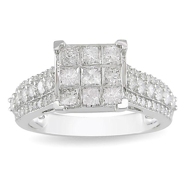 14k White Gold 1 1/2ct TDW Diamond  Ring (H-I, I2-I3)