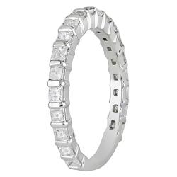 Miadora 14k White Gold 1ct TDW Diamond Anniversary Ring (H-I, I2-I3) - Thumbnail 1