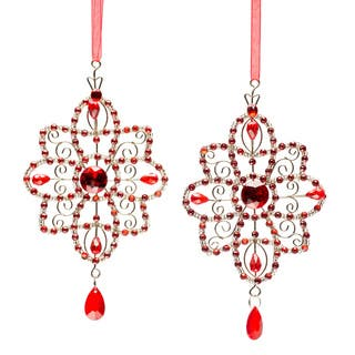 Selections by Chaumont Red Crystal Star Holiday Ornaments (Set of 2)|https://ak1.ostkcdn.com/images/products/6300524/Set-of-Four-Selections-by-Chaumont-Red-Crystal-Star-Holiday-Ornaments-P13930909.jpg?impolicy=medium