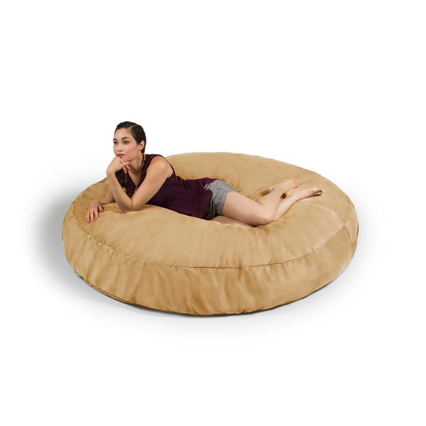 Surprising Shop Jaxx 6 Cocoon Bean Bag Sofa Free Shipping Today Machost Co Dining Chair Design Ideas Machostcouk