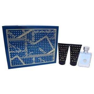 Versace Pour Homme Men's 3-piece Gift Set