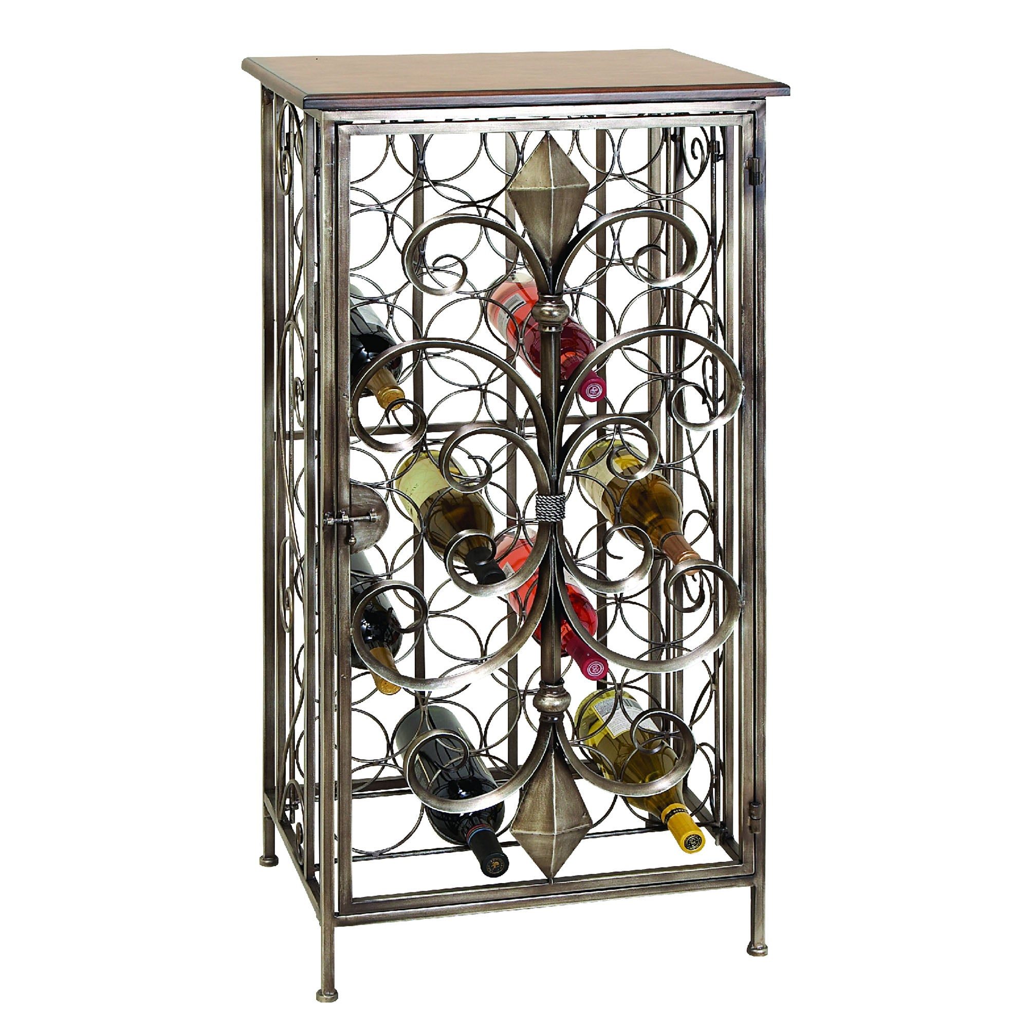 Casa Cortes Wrought Iron 32-bottle Wine Holder Rack - Thumbnail 0