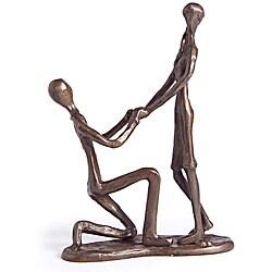 Danya B. Proposal Cast Bronze Sculpture