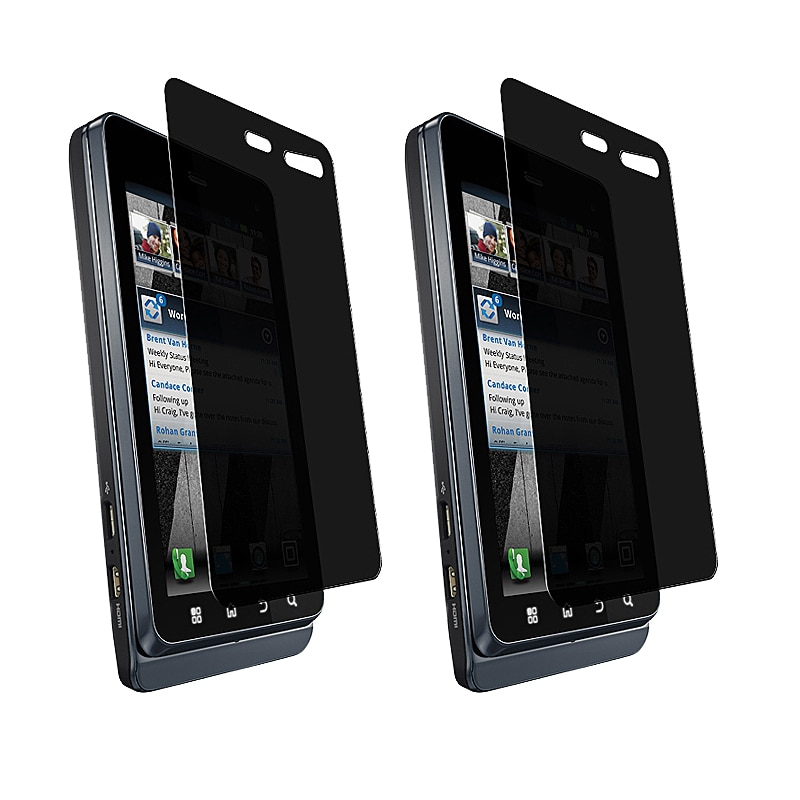 LCD Privacy Screen Filter Protector for Motorola Droid 3 XT862 (Pack of 2)