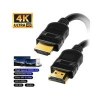 INSTEN 6-foot Black High-speed HDMI Cables (Pack of 4)