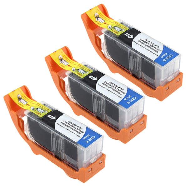 INSTEN Canon Compatible PGI-220BK/ MX860 Black Ink Cartridge (Pack of 3)