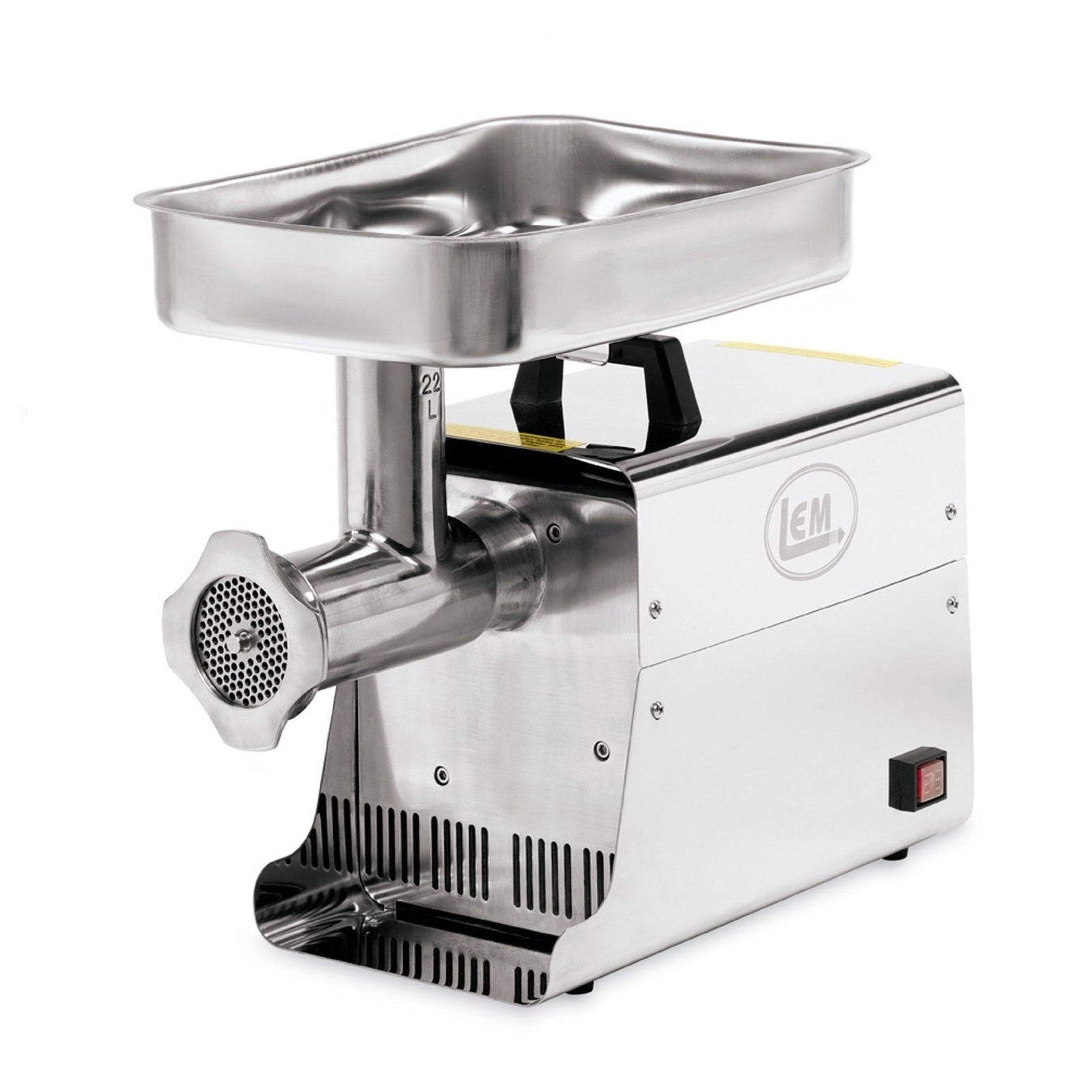 LEM 22-pound Stainless Steel Electric Grinder, Silver