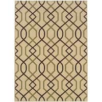 StyleHaven Lattice Ivory/Brown Indoor-Outdoor Area Rug - 8'6 x 13'
