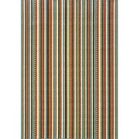 Laurel Creek Flora Striped Indoor/ Outdoor Area Rug (8'6 x 13') - 8'6 x 13'