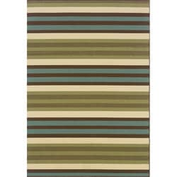 Green/ Blue Outdoor Area Rug (8'6 x 13')