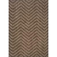 Hayworth Brown/ Grey Transitional Area Rug - 9'10 x 12'9