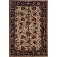"Astoria Ivory/ Black Traditional Area Rug (10' x 12' 7) - 10' x 12'7"""