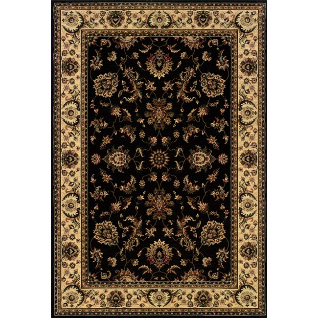 Astoria Black/ Ivory Traditional Area Rug - 10' x 12'7
