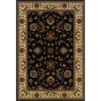 "Astoria Black/ Ivory Traditional Area Rug (10' x 12' 7) - 10' x 12'7"""