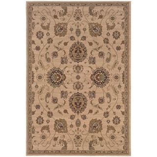 Astoria Beige/ Gold Traditional Area Rug (10' x 12' 7)