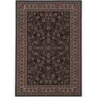 Laurel Creek Stanley Black/Ivory Traditional Area Rug - 10' x 12'7