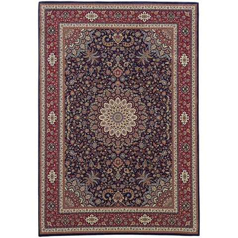 Copper Grove Rouyn Blue/ Red Traditional Area Rug - 10' x 12'7""