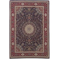Laurel Creek Stanley Blue/ Red Traditional Area Rug - 10' x 12'7