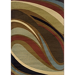 Brown Contemporary Area Rug (10' x 13')