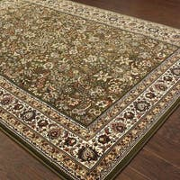 Astoria Green/ Ivory Traditional Area Rug (10' x 12'7) - 10' x 12'7""