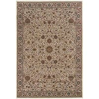 Astoria Ivory/ Brown Traditional Area Rug - 10' x 12'7
