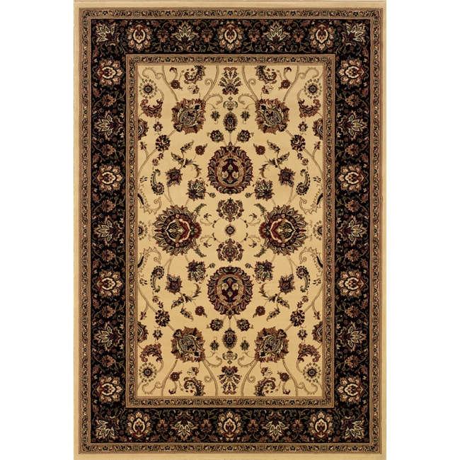 Astoria Ivory/ Black Oriental Area Rug - 10' x 12'7
