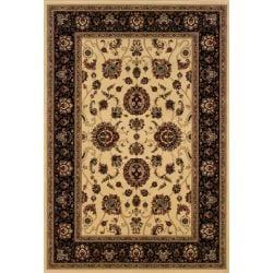 Astoria Ivory/ Black Oriental Area Rug (10' x 12'7) - Thumbnail 0