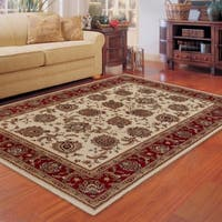 Astoria Ivory/ Red Traditional Area Rug - 10' x 12'7