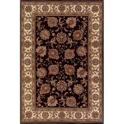 Astoria Brown/ Ivory Traditional Area Rug - 10' x 12'7 - Thumbnail 0