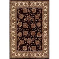 Astoria Brown/ Ivory Traditional Area Rug - 10' x 12'7