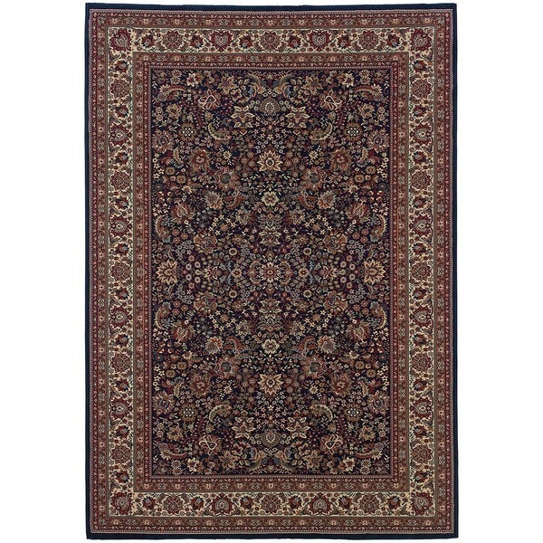 Astoria Blue/ Red Traditional Area Rug (10' x 12'7) - 10' x 12'7""