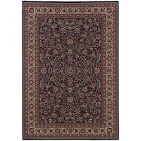Astoria Blue/ Red Traditional Area Rug - 10' x 12'7