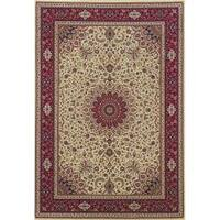 Astoria Ivory/ Red Oriental Area Rug - 10' x 12'7