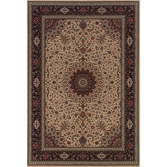 Astoria Ivory/ Black Traditional Area Rug - 10' x 12'7