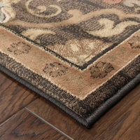 Brown/ Beige Traditional Area Rug - 10' x 13'