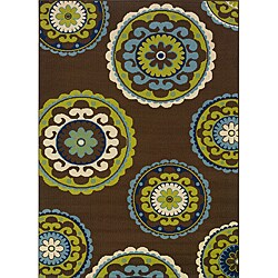 "Green Outdoor Area Rug (8'6"" x 13')"