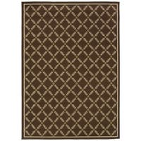 StyleHaven Lattice Brown/Ivory Indoor-Outdoor Area Rug (8'6x13')