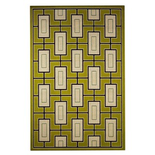 StyleHaven Geometric Green/Ivory Indoor-Outdoor Area Rug (8'6x13')