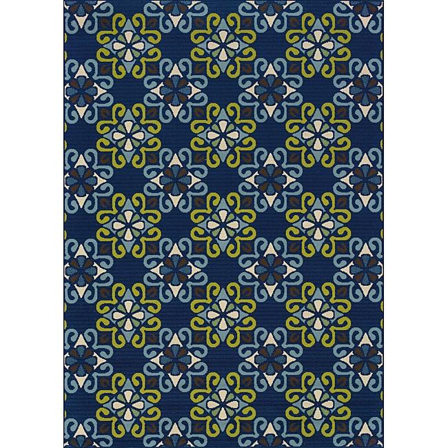 Blue Outdoor Area Rug (8'6 x 13')