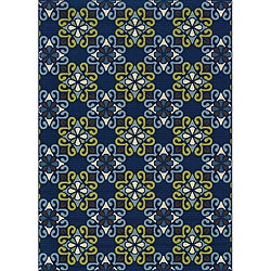 Blue Outdoor Area Rug (8'6 x 13')