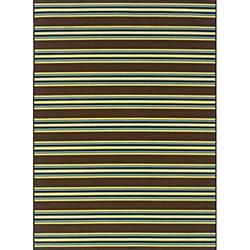 Brown/Green Outdoor Area Rug (8'6 x 13')