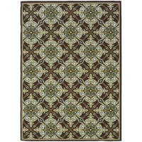 StyleHaven Floral Brown/Ivory Indoor-Outdoor Area Rug (8'6x13')