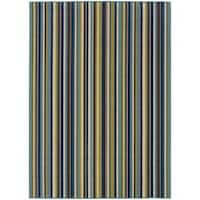 Laurel Creek Flora Striped Indoor/ Outdoor Area Rug  - 8'6 x 13'