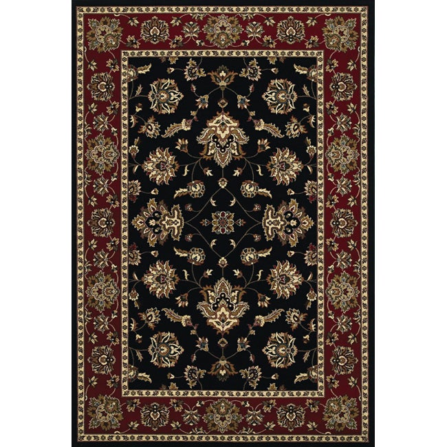 Astoria Black/Red Traditional Area Rug (10' x 12'7)