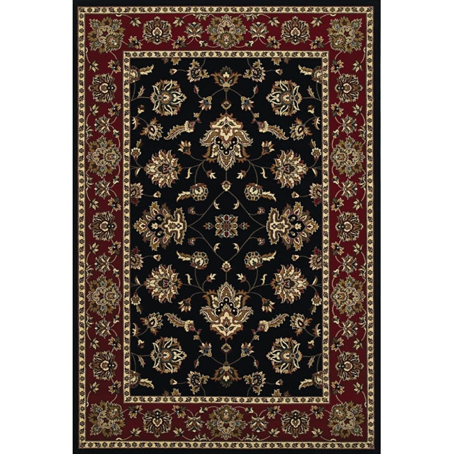 Astoria Black/Red Traditional Area Rug - 10' x 12'7