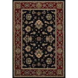 Astoria Black/Red Traditional Area Rug (10' x 12'7) - Thumbnail 0