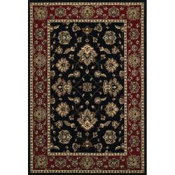 Astoria Black/Red Traditional Area Rug - 10' x 12'7 - Thumbnail 0