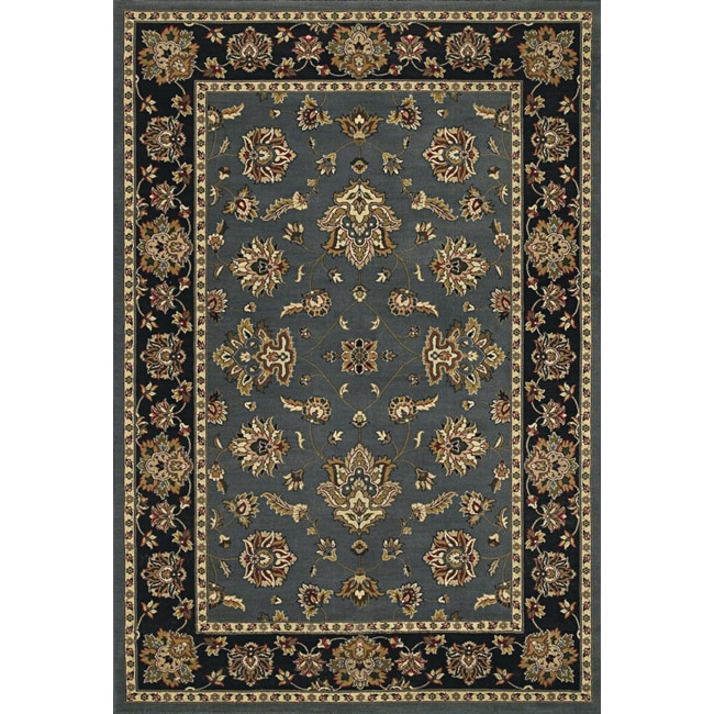 Astoria Blue and Black Traditional Area Rug