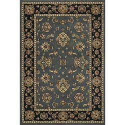Astoria Blue and Black Traditional Area Rug (10' x 12'7)